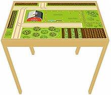 nikima - Spielfolie/ Möbelfolie für IKEA LÄTT Spieltisch Bauernhof Aufkleber Sticker Kinderzimmer (Möbel nicht inklusive)