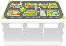 nikima - Spielfolie/ Möbelfolie für IKEA TROFAST Stadtleben Aufkleber Sticker Kinderzimmer Spieltisch (Möbel nicht inklusive)