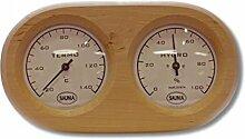 Nikkarien Sauna Thermo und Hygrometer oval dunkle Erle 590TL