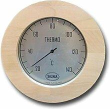 Nikkarien Sauna Thermometer Jumbo Birken Leimholz bis 140 Grad