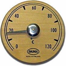 Nikkarien Sauna Thermometer rund aus dunkler Erle 471TL