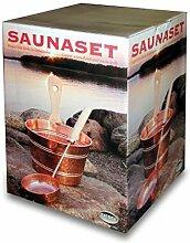 Nikkarien Saunabox Saunakübel und Schöpfkelle aus Kupfer 664