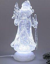 Nikolaus Weihnachtsmann Acryl Figur mit LED