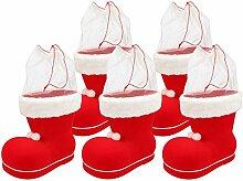 Nikolausstiefel zum Befüllen, Kunststoff beflockt