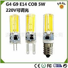 NIKU-G4-G9 E14 Silikon Lampe Led Lampe Leuchte Crystal Beads Cob5W 220V Dimmbare LED-Lampe LED-Lampen Mais Lichtquelle,E14-warmes Lich