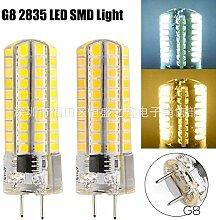 NIKU-LED E11 E12 E14 E17 G4 G8 G9 2835BA15 80 SMD LED 220V auf 5W-LED-Lampe Silikon Mais Glühbirnen Lichtquelle,G8-warmes Lich