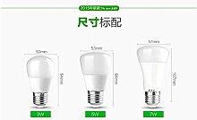 NIKU-Led Lampe Superhell Kunststoffgehäuse Aluminium Glühlampe Energiesparen Single-Lamp E27 Indoor Lichtquelle Home E27 LED Leuchtmittel Licht,7W Warmweiß
