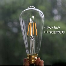 NIKU-Retro E27 Spirale 2 4 6 8 W LED-Filament Edison dekorative LED-Lampe,2W-warmen Gelb