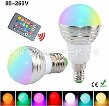 NIKU-RGB-Fernbedienung Lampe E1 4E27 GU10 3W Lampe bunte Intelligente Dimmer Color Bubble-LED-Lampen Lichtquelle,GU10 Rgb