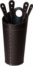 NILAR: Kaminbesteck Behälter aus Leder Farbe
