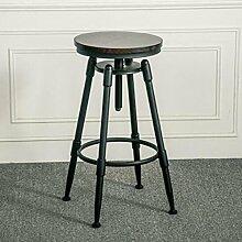 Nimm einen Stuhl Schmiedeeisen Massivholz Barhocker Hohe Barhocker Barhocker Cafe Chair Lifthocker Rezeption Massivholz Keine Rückenlehne Barhocker ( Farbe : #1 )