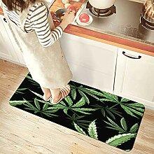 NINEHASA Küchenläufer,Marihuana Cannabis Hanf