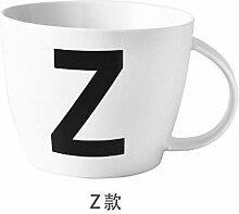 ning88llning5 Brief A ~ Z Letter Kaffeetassen Mit