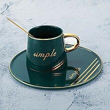 ning88llning5 Luxus Goldrand Keramik Kaffeetasse