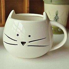 ning88llning5 Tasse 400Ml Katze Tier Kaffee Milch
