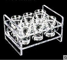 ning88llning5 Tasse Acryl Bullet Cup Rack Ktv Glas
