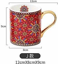 ning88llning5 Vintage Textur Kaffeebecher Mit
