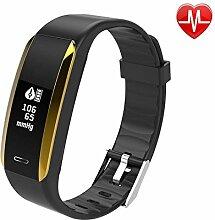 NINGSANJIN Fitness Armband Uhr mit Pulsmesser,IP67