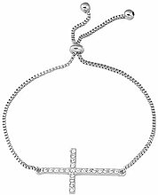 Ningz0l Damen Armband, Legierung Diamant Kreuz,