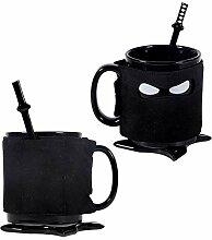 Ninja-Keramikbecher, personalisierbar, für Büro,