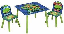 Ninja Turtles kleiner Tisch und Stühle (Blau/Grün)