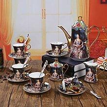 NiNnn Kaffeekannen Porzellan 15 Schädel Porzellan