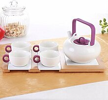 NiNnn Kaffeekannen Porzellan Farbe Keramik Blume