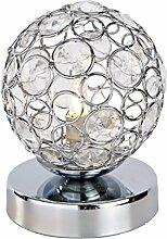 Nino-Leuchten Halogen-Tischleuchte Carlo, chrom, Höhe 11 cm
