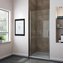Nischentür Dusche 80cm Duschwand NANO Glas