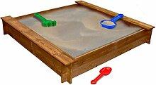 Nishore Sandkasten Sandkiste Quadratisch aus Holz