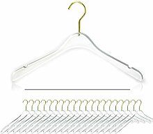 Nisorpa Transparente Acryl-Kleiderbügel, 50