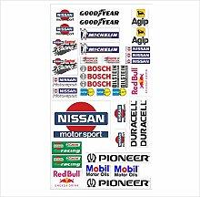 Nissan Logo Autoaufkleber Sponsoren Marken Aufkleber Decals Tuning Sticker Se