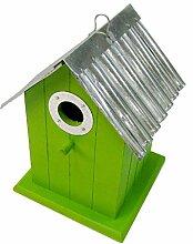 Nistkasten aus Holz mit Metalldach, Dekoration, 4 Farben, Vogelhaus