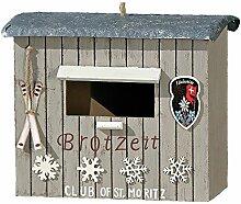 Nistkasten Brotzeit St. Moritz Vogelhaus Holz mit Blechdach