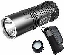 NiteCore EA41Stutzen 1020Lumen CREE XM-L2U2LED Taschenlampe Compact Searchlight mit lumentac Diffusor