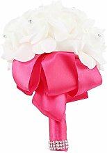 Nitrip Künstliche Brautstrauß Blumen für