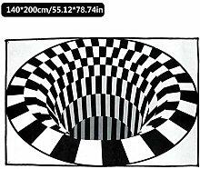 Niumen 3D Visual Swirl Teppichbereiche Teppich