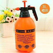 NIUXX Druck Gießkanne Gartenarbeit, Verschüttetes Wasser Flasche Luftdruck Im Wasserkocher Home Die Kleine Blume Bewässerung Tools Spray Nehmen, 3L Orange