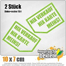 Nix verkaufen, nix Karte, Meins! 10x 7 cm IN 15 FARBEN - Neon + Chrom! Sticker Aufkleber