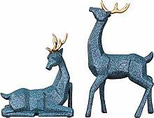 NIYAOJIANFEI Tierskulptur,Blaue Hochzeit Geschenk