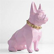 NIYAOJIANFEI Tierskulptur,Rosa Bulldog Sparschwein