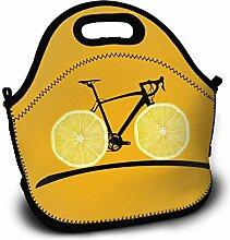 Nizefuture Orange Bike Portable Lunch Tote Bags,