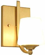 NJ Wandlampe- Retro Kupfer Wandleuchte Nachttisch