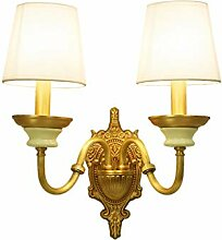 NJ Wandlampe- Retro Kupfer Wandleuchte Wohnzimmer