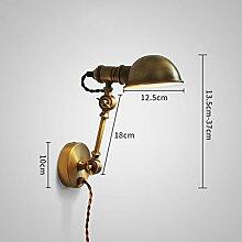 NJ Wandlampe- Vintage Industrial Wandleuchte E14