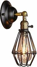 NJ Wandlampe- Vintage Schmiedeeisen Wandleuchte,