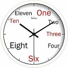 NJZY-T Wanduhr Wohnzimmer Clocks Englisch Digital