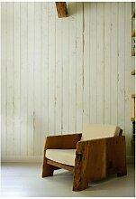 NLXL Tapete in Holz-Optik von Piet Hein Eek, Faserstoff, Creme/Grauweiß, 1Rolle (900x48,7cm)