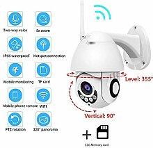 NMDD Drahtlose IP-Kamera 1080P WiFi PTZ Speed