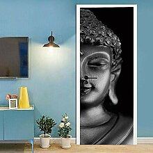 no-brand 3D Türtapete-Buddha-Statue mit